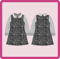 女装女童秋冬季连衣裙