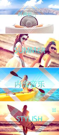 时尚动感旅游度假摄影照片相册片头模板