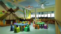 幼儿园班级三教室3DMAX模型下载