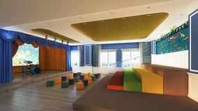 幼儿园演艺厅整体3D模型效果图