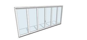 简易白色框架窗户模型