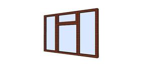 木之框架窗户模型