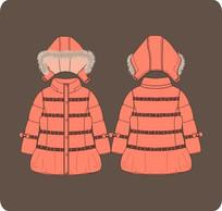女童棉衣羽绒服