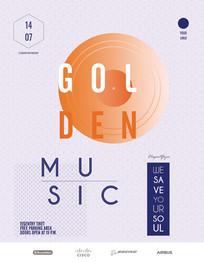 简约时尚创意国外音乐节海报设计