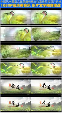 中国风水墨茶叶文化栏目包装片头