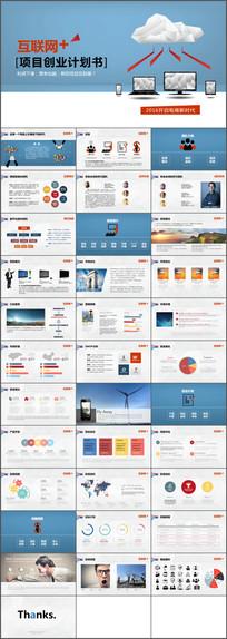 互联网电商项目创业计划书商务ppt