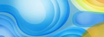 蓝色圆圈背景素材