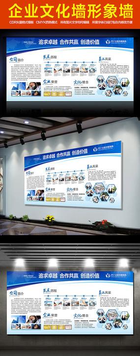 企业文化墙公司简介形象墙展板cdr模板