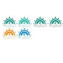 阳光大气太阳星星logo