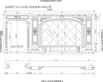 欧式客厅电视背景加过道欧式罗马柱子加雕花CAD设计图纸