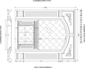 欧式楼中楼客厅沙发背景电视背景墙加壁炉CAD设计图纸