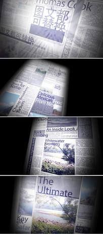 4款怀旧报纸图文展示ae模板