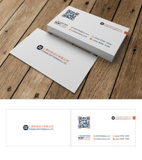 白色简约创意商业二维码名片
