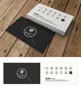 黑白创意简约名片设计