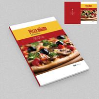 美食攻略披萨美食外卖手册封面设计