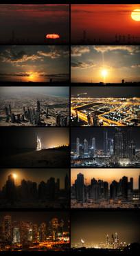 延时城市摄影视频