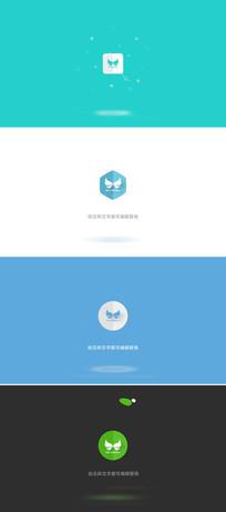 20个简洁图形变化logo标志演绎ae模板