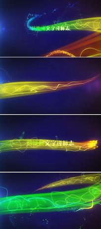 大气绚丽粒子光束企业logo显示ae片头模板