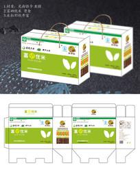 高端绿色精品富硒大米粮食包装