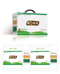 简约清新白色富硒米粮食包装设计
