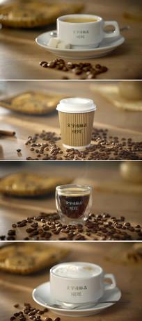 咖啡logo标志微信小视频模板
