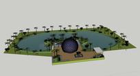 球雕塑水景公园