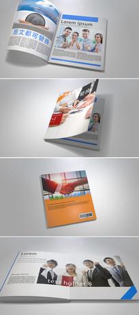 三维立体效果时尚杂志企业画册翻页动画模板