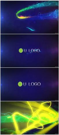 彩条拖尾粒子logo展示视频