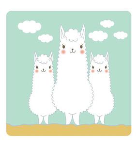 可爱的卡通小羊