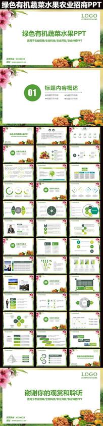 绿色有机蔬菜水果农业招商引资PPT