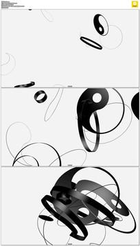 八卦图案动态视频素材