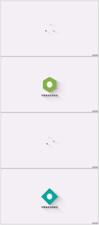 扁平化简洁LOGo动画