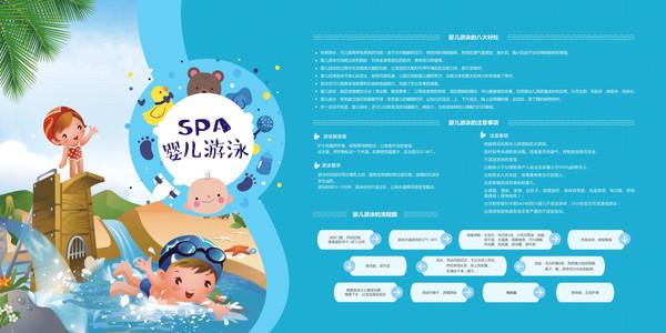 婴儿SPA游泳展板设计