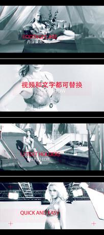 动感模特服装展示ae视频模板