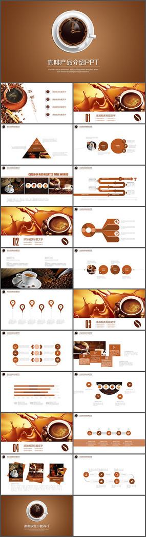 复古欧式咖啡产品介绍PPT