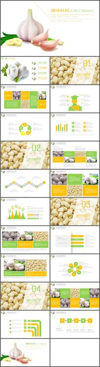 农业蔬菜调料大蒜产品宣传PPT