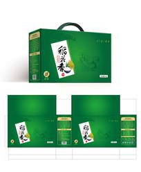 时尚简约绿色稻花香大米杂粮食品包装设计