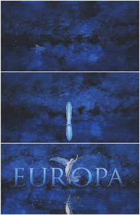 梦幻仙境蓝色天堂女神海豚游动开场视频