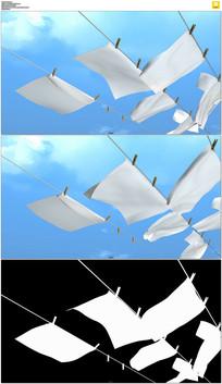 悬挂的白色绸缎背景视频素材