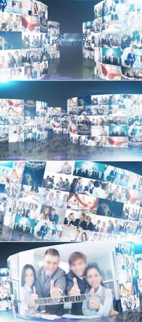 大气企业员工照片墙展示ae模板