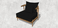 黑色宽大单人沙发