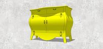 黄色现代风柜