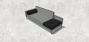 圆筒型靠枕单人沙发