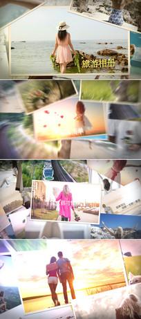 ae旅游摄影照片相册幻灯片模板