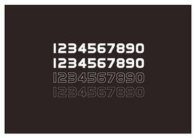 阿拉伯數字設計字體設計