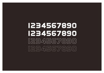 阿拉伯数字设计字体设计