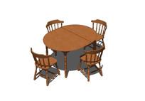 折叠木质桌子