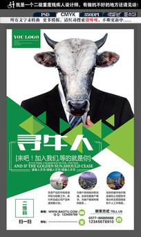 大气企业网络招聘海报