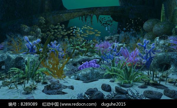 海底世界3D模型动画场景 图片