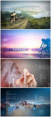 科技感全屏图片视频展示AE模版